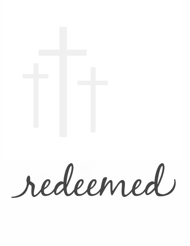 Free Easter printable - Redeemed. - The Pretty Bee