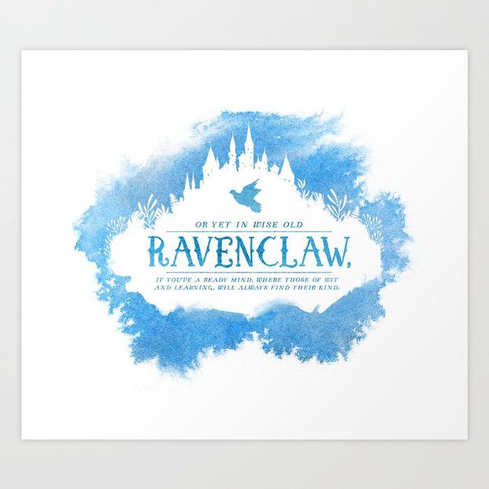 Buy Ravenclaw Art Print by stellawenny  Worldwide shipping
