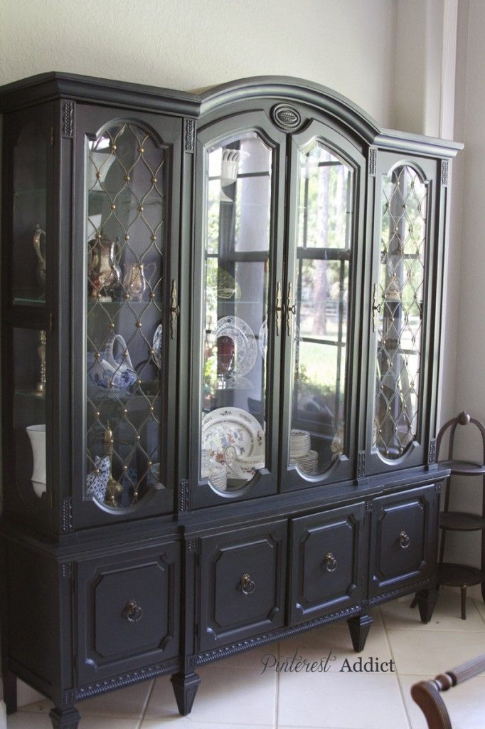 china cabinet makeover china cabinet
