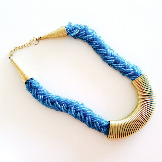 Choker necklace/ bib necklace/ statement necklace/ by sudarium, $22.00