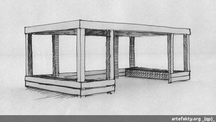 Drewniana altana z płaskim dachem | _(qp)_Drewniane place zabaw i zabawki.