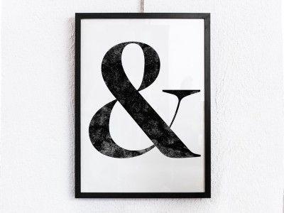 """Affisch - """"&"""""""