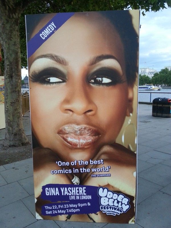 Jack Clayton reviews Gina Yashere's performance at the Udderbelly Festival: http://www.whats-on-london.co.uk/review/gina-yashere-udderbelly-festival/