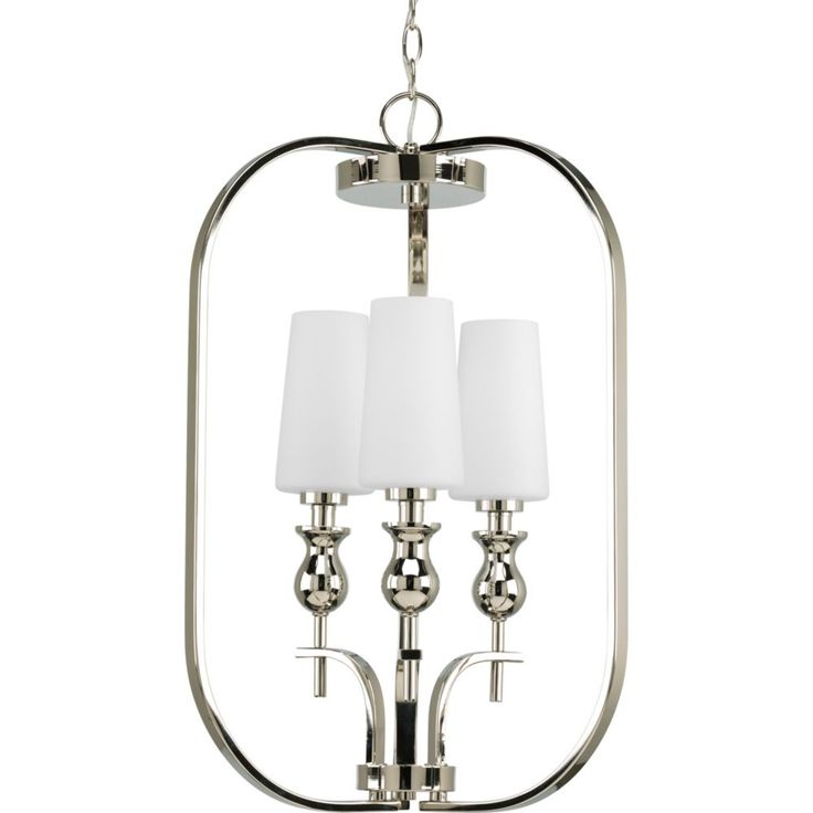 LadyLuck Collection Polished Nickel 3-light Foyer Pendant
