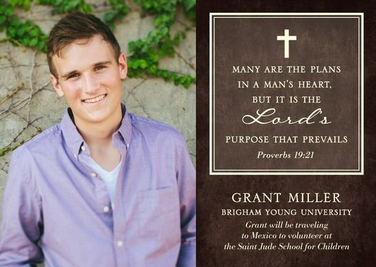 Purpose Prevails Graduation Announcements In Coffee Or