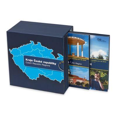 Sedm sad oběžných mincí ve sběratelském boxu stand | Česká mincovna