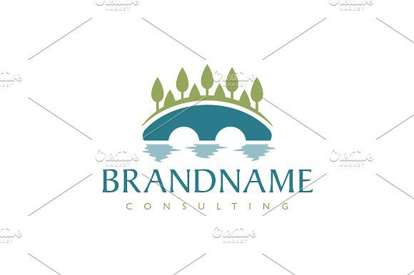 For sale. Only $29 - tree, water, letter M, natural, river, bridge, bow, earthy, arch, stream, garden, reflection, channel, crossing, brook, connection, link, consulting, blue, green, landscaping, spa, wellness, hotel, resort, forest, wood, alley, flow, park, logo, design, template,