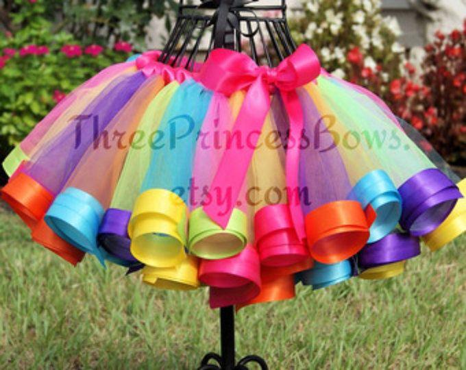 Tierra del caramelo del arco iris cinta Tutu cumpleaños tutú arcoiris Candyland