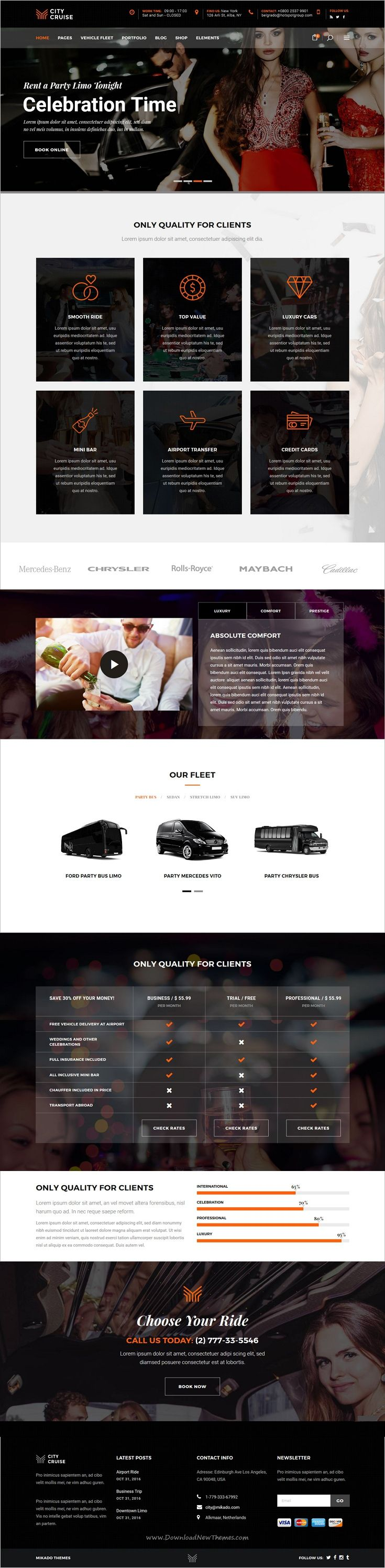 City cruise is elegant and modern design 3in1 responsive #WordPress theme for #limousine and car #rental service agencies website download now➩ https://themeforest.net/item/city-cruise-a-limousine-and-car-rental-theme/19746171?ref=Datasata