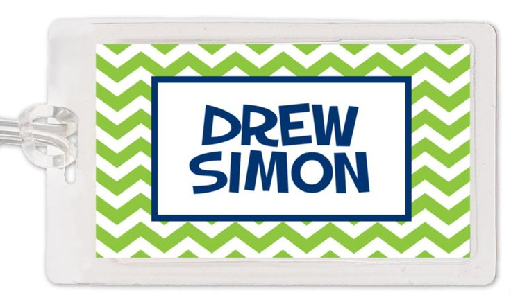 Chevron diaper bag tag