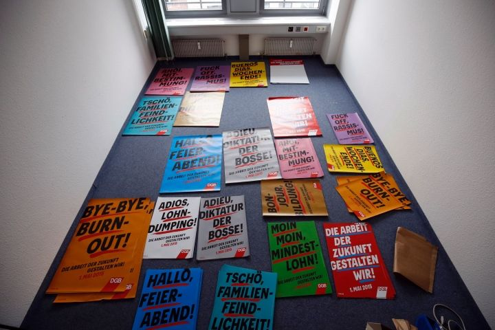 Plakate raus am 1. Mai: Tausende Teilnehmer bei Nürnberger DGB-Demo