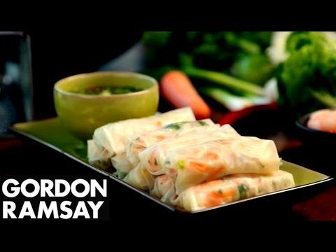 Fresh Prawn Rolls - Gordon Ramsay  Having experienced Vietnam first hand, Gordon shows you his recipe for fragrant and delicate prawns summer rolls full of flavour, along with an exciting sweet chilli and mint dipping sauce. #picsandpalettes #prawn #GordonRamsay