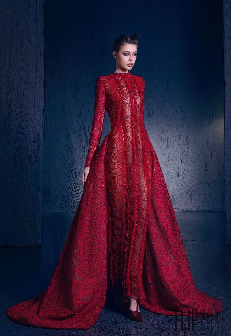 273 best nicolas jebran images on pinterest feminine for Haute couture red