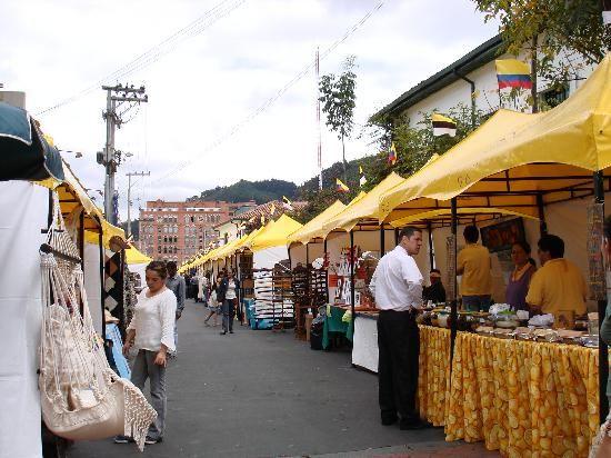 Flea Market. Usaquen, Bogota, Colombia