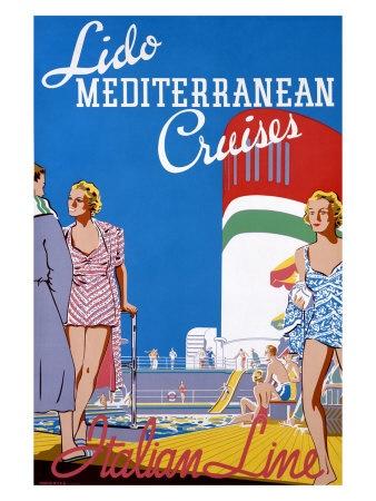 Lido Med Cruises Giclee Print