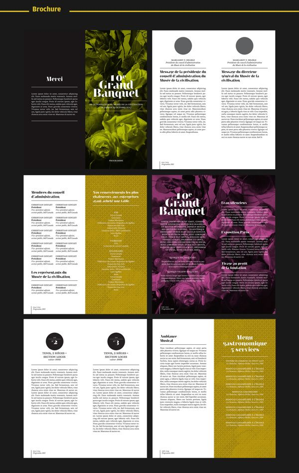Annual Banquet for Museum of Civilization. by 8 Bis Agency , via Behance