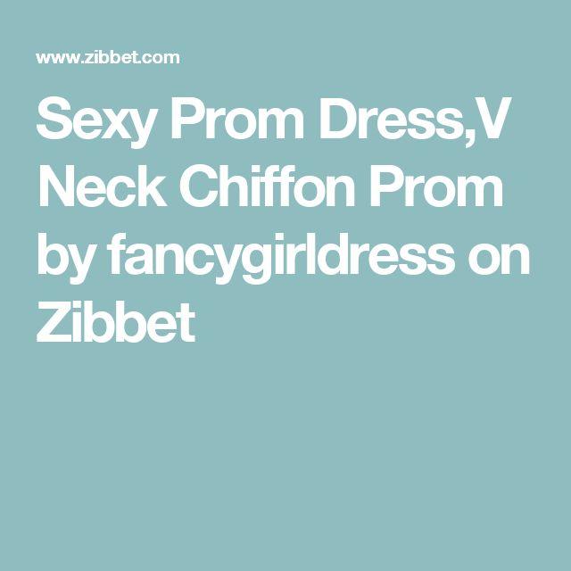 Sexy Prom Dress,V Neck Chiffon Prom by fancygirldress on Zibbet