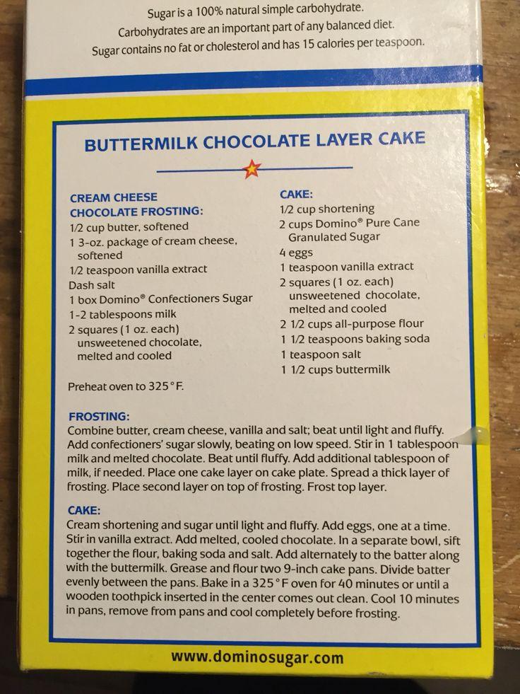 Buttermilk Chocolate Layer Cake Recipe Domino