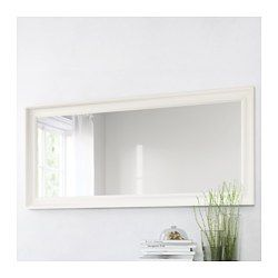 29x65  IKEA - HEMNES, Mirror, black-brown, , Full-length mirror.Can be hung horizontally or vertically.Safsolid wood,
