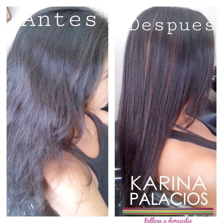 Laciado shock de keratina y Balayage Karina Palacios
