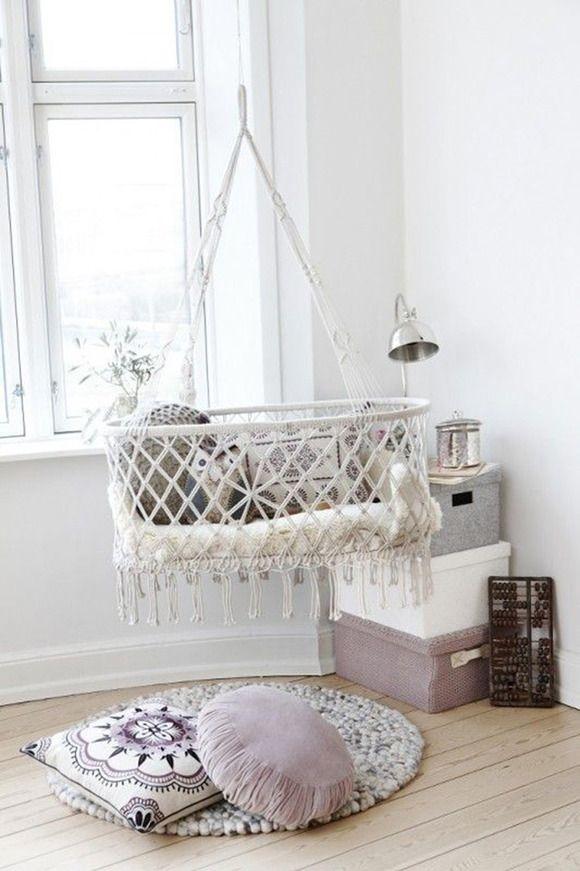 Hamacas para bebé, cunas colgantes #decoraciónbebé #hamacasbebe #cunas #cribs