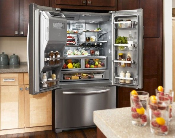 29 Cu. Ft. Platinum Interior, Standard-Depth French DoorKitchenAid® Refrigerator(Architect® Series II
