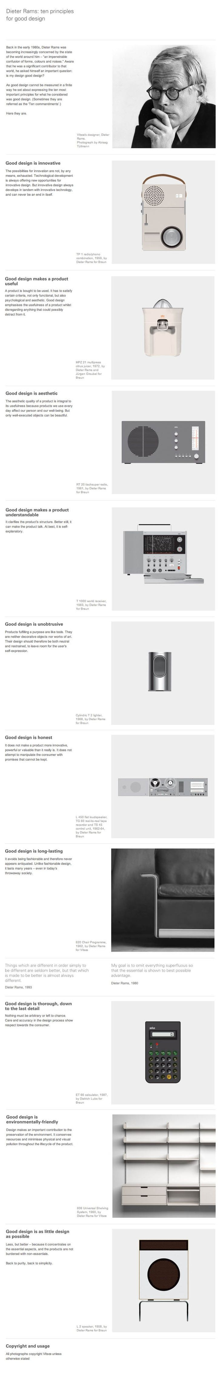 Infographic: 10 Principles for good design | Design made in Germany: Dieter rams |