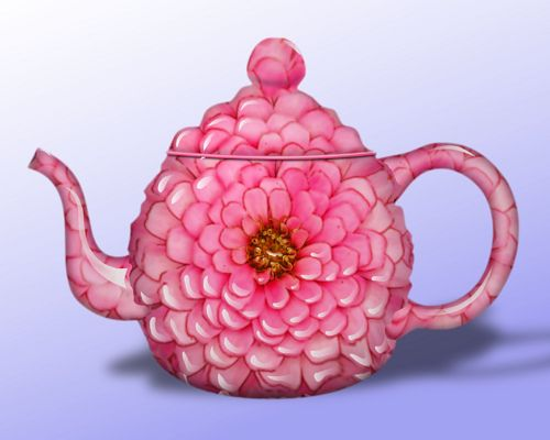 Zinnia Teapot    ...  love teapots..