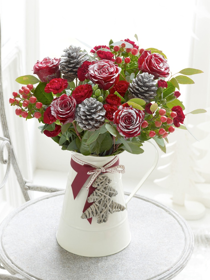 Frosted Christmas Jug - Interflora