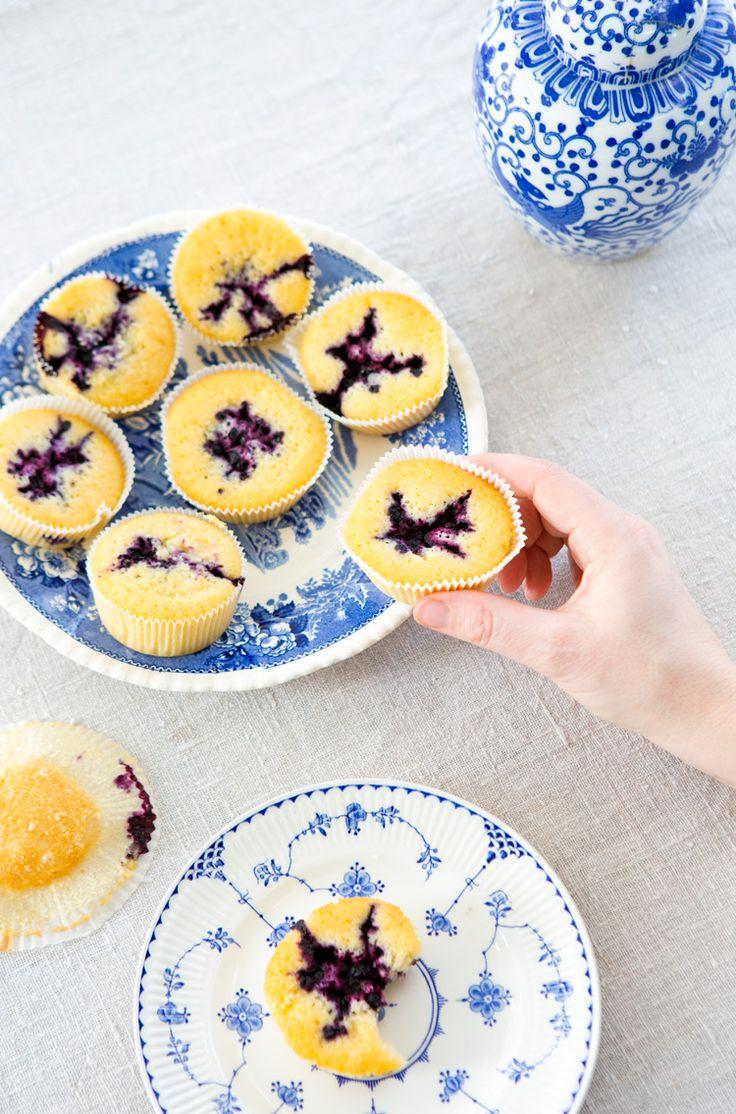 saftiga blåbärsmuffins