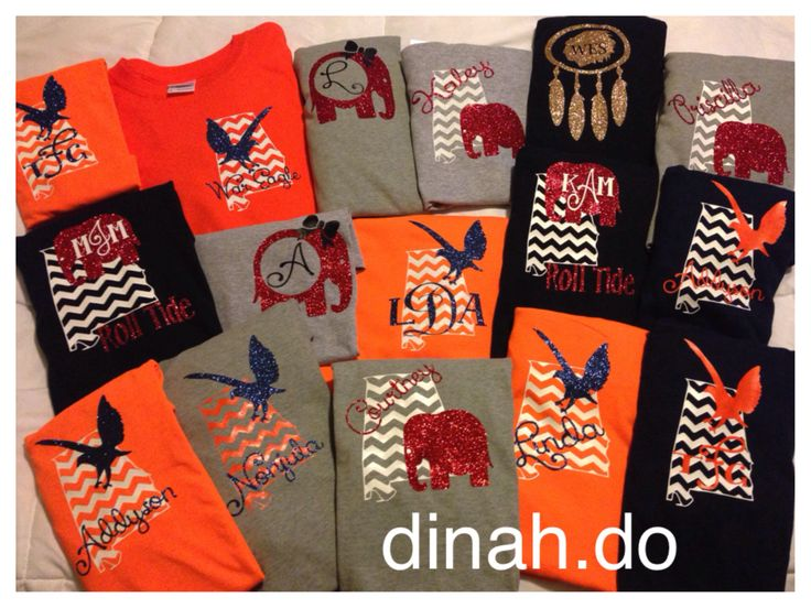 Game Day Tees Heat Press Vinyl Designs For Auburn And