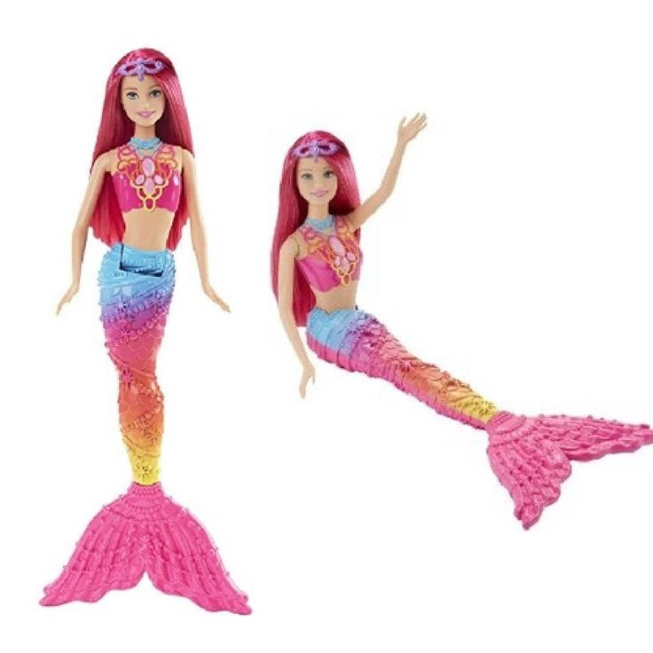 Colorful Barbie Mermaid Doll Rainbow Fashion Toy Adorable Xmas Gift for Girls US #Brbie