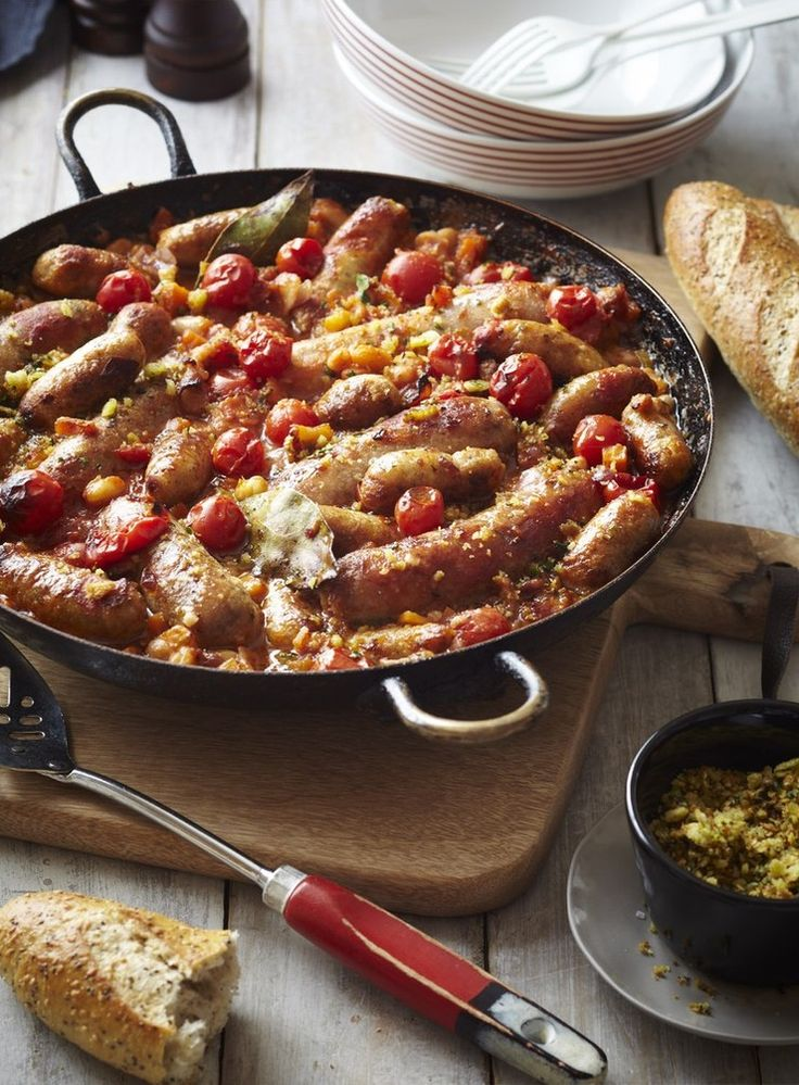 This is the poor man's version of a traditional French 'Cassoulet' using much more economical ingredients – no confit duck here. Use good, meaty sausages for the best flavour.