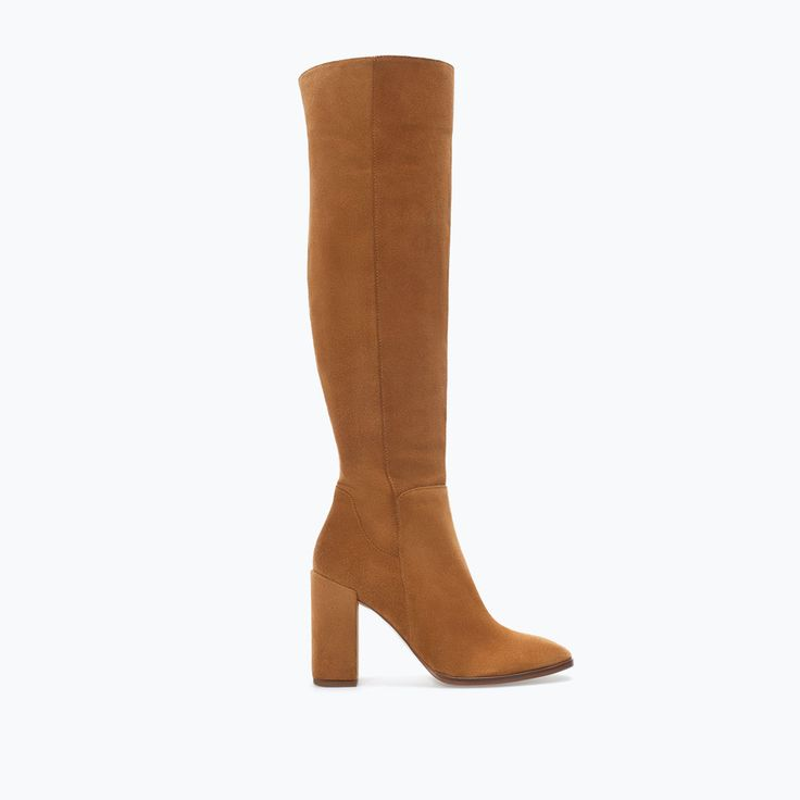 ZARA - WOMAN - HIGH-HEELED LEATHER BOOT