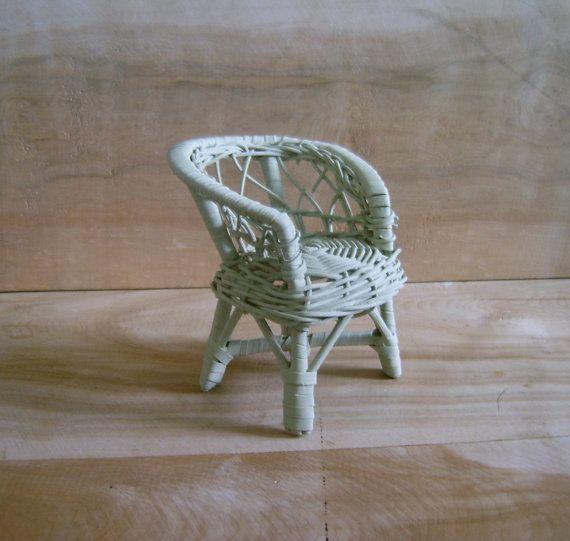 Vintage Miniature Wicker Chair