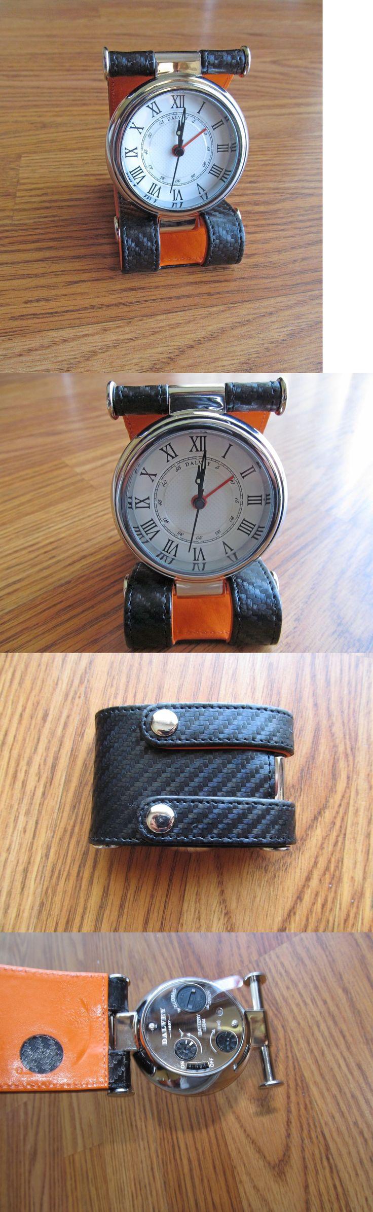 Desk Mantel and Shelf Clocks 175753: Dalvey Cavesson Clock Desk And Travel Clock , Orange New -> BUY IT NOW ONLY: $115 on eBay!