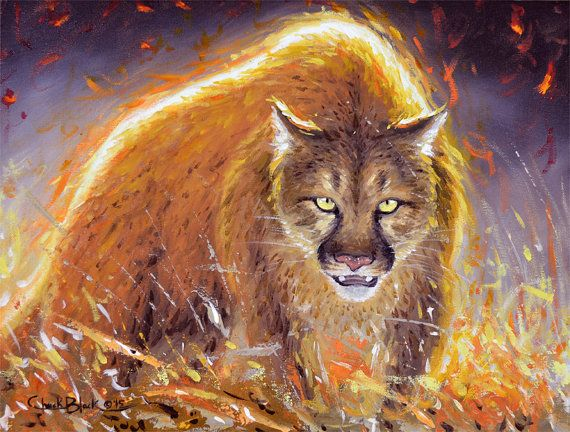 How To Paint A Mountain Lion Chuck Black