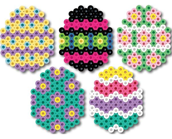 Create these pretty Perler Easter eggs to decorate your egg tree or tuck into Easter baskets. They are great fun for kids to make and trade!