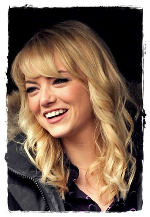Celebrity Inspired #Hairstyles - Emma Stone Feathery Bang