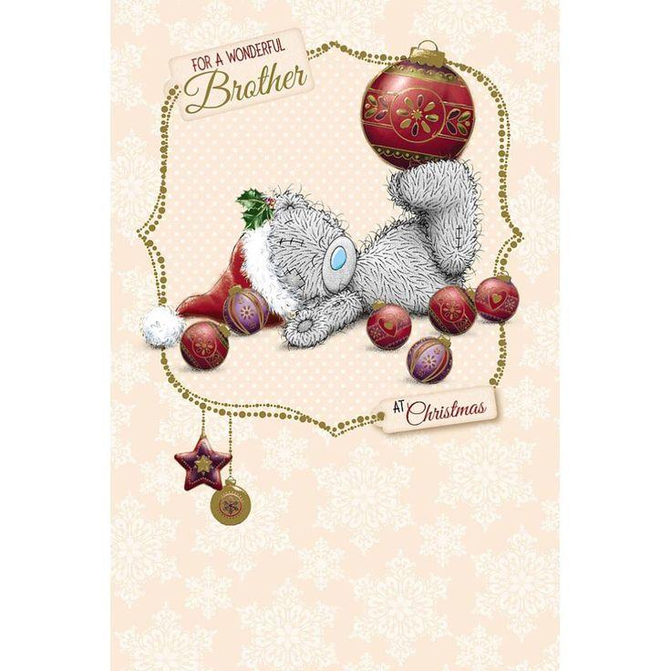 Brother Me to You Bear Christmas Card  £2.49
