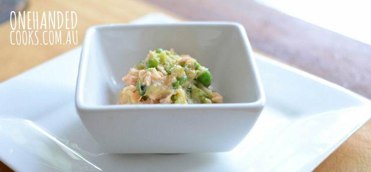 Veggie Salmon Mash - One Handed Cooks