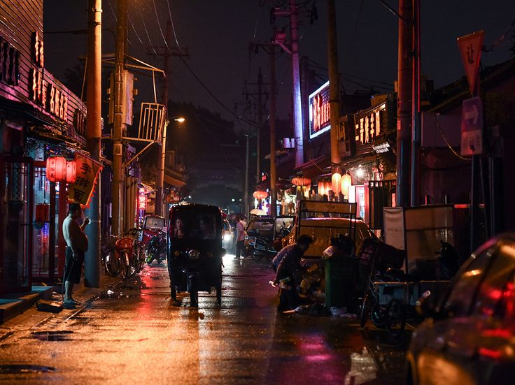 A street in Beijing, China glows at night in this National Geographic, 22/08/2016