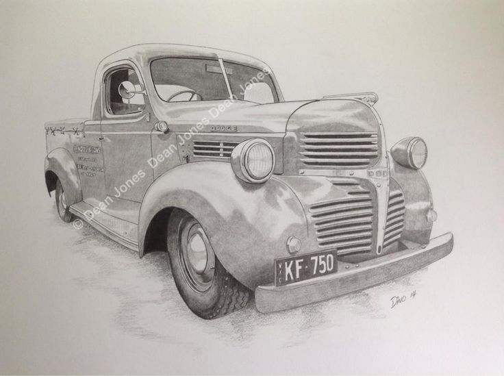 47 Dodge Pickup sketch