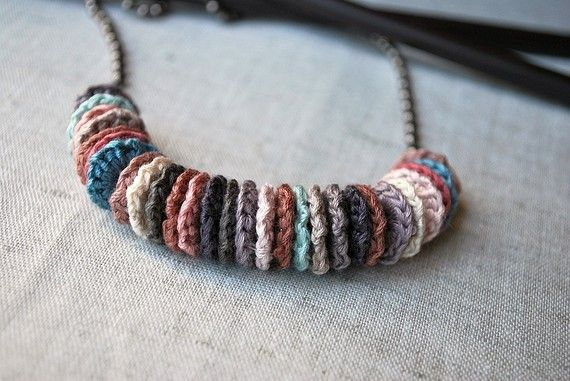 All My Friends Crochet Necklace Pale Shades