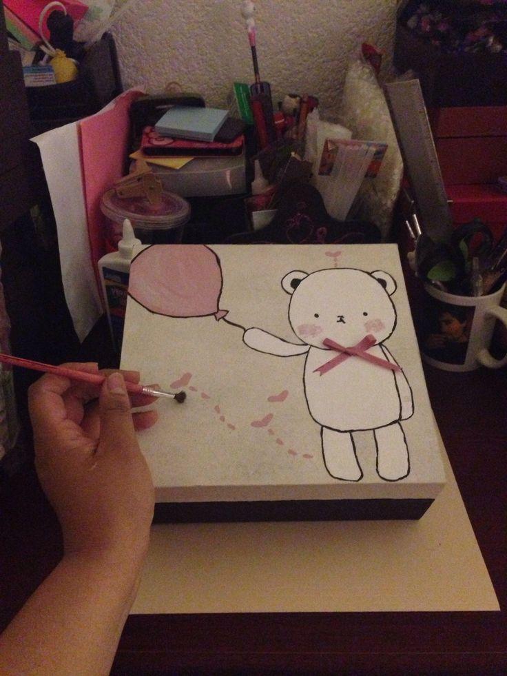 Cajita pintada a mano