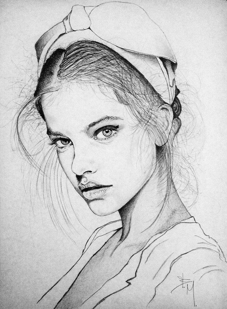 Beautiful drawing of Barbara Palvin.  Larger (900×1227):  http://pbs.twimg.com/media/BGD6alZCQAE2kyg.jpg:large