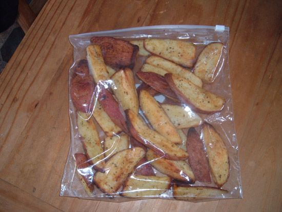 Bagged Potato Wedges for freezer