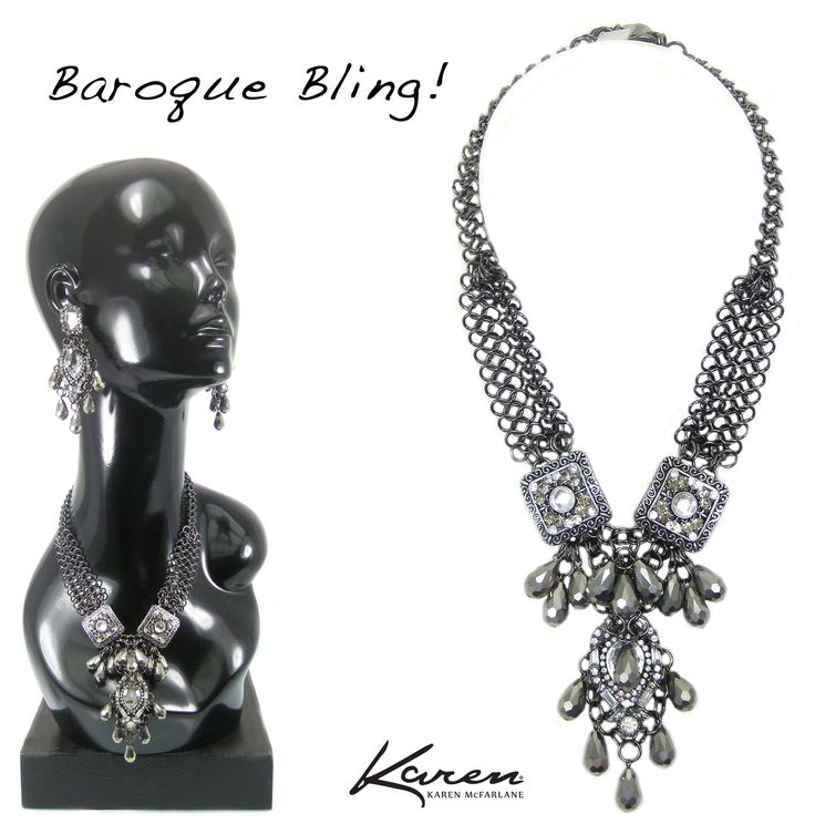 More Baroque Bling! Necklace By Karen McFarlane http://jewellerybykaren.com/bout…/new-designs/necklace-1101n