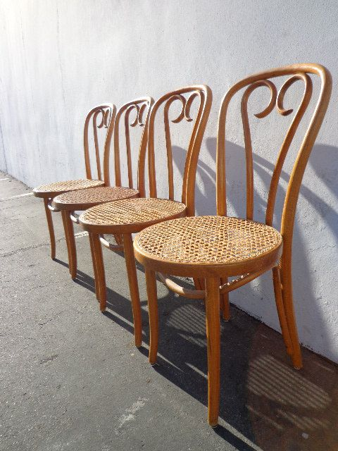 Set Of 4 Classic Bentwood Quot Ice Cream Quot Parlor Chairs Thonet