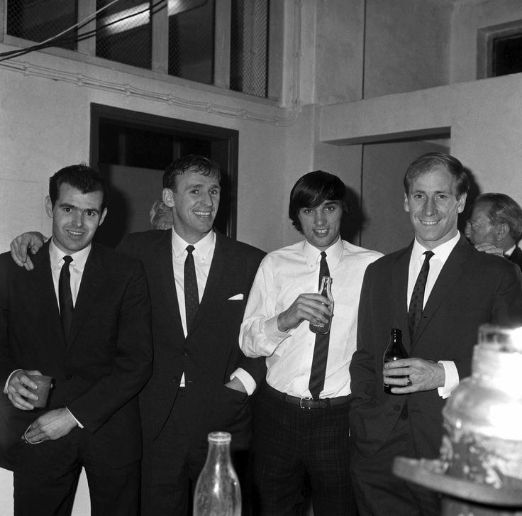 John Connelly, Pat Crerand, George Best and Bobby Charlton, 1966.